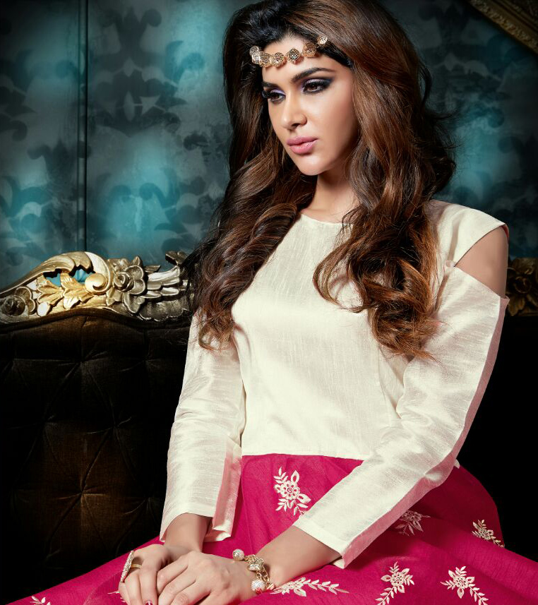 Off White - Pink Georgette Anarkali Salwar Suit