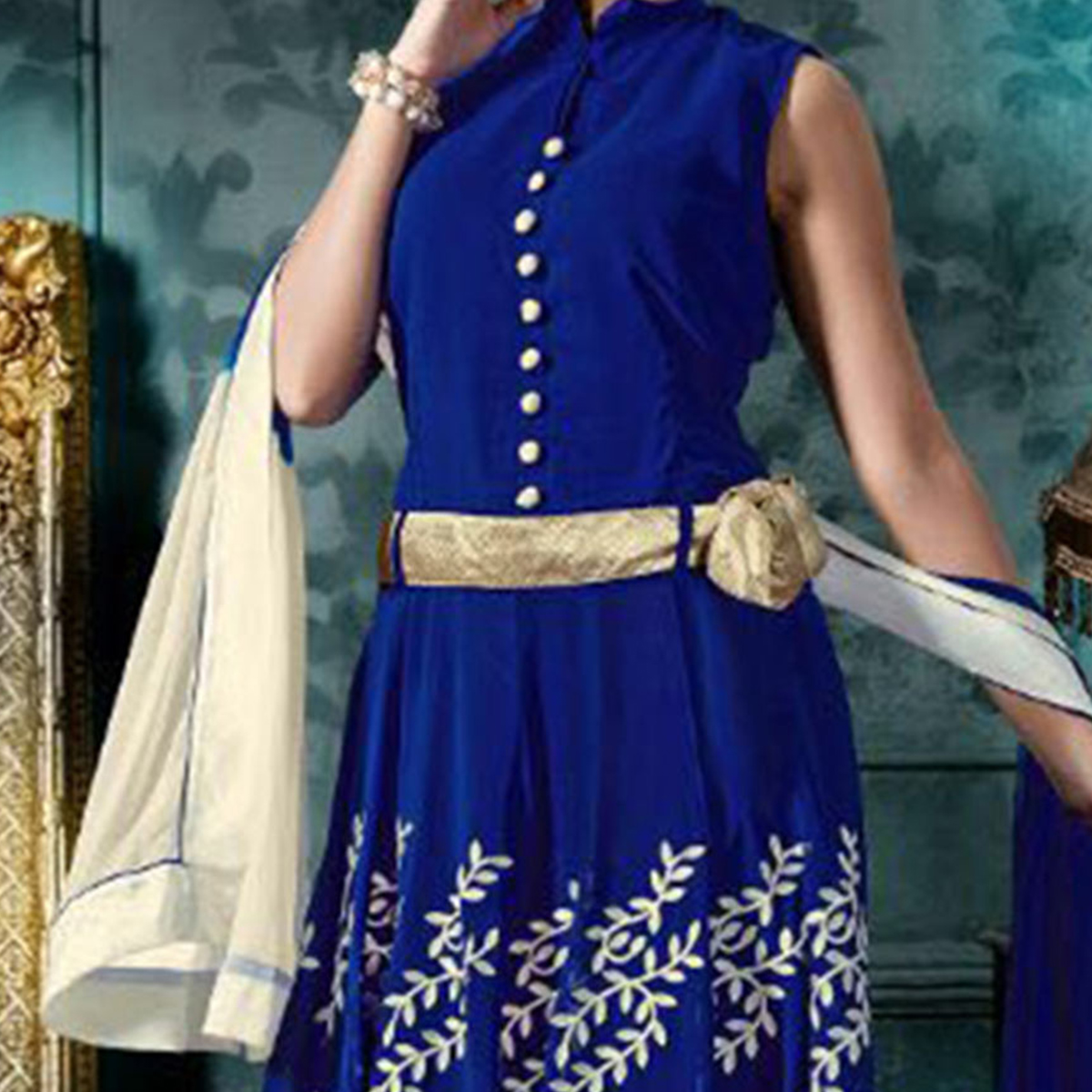 Blue Party Wear Georgette Suit