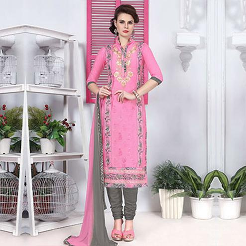 Pastel Pink Straight Cut Suit