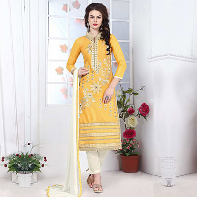 Yellow Straight Cut Suit
