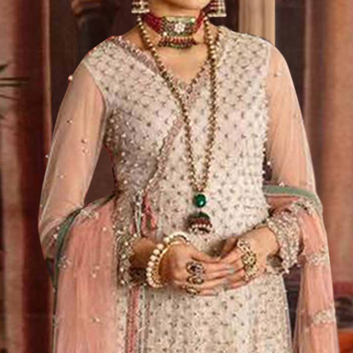Jazzy White Colored Party Wear Embroidered Net Anarkali Suit