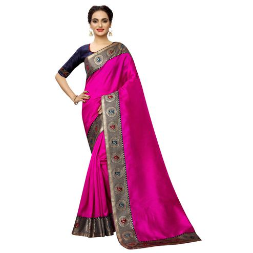 Elegant Pink Colored Festive Wear Printed Georgette saree
