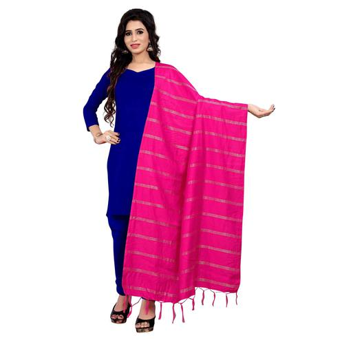 Sensational Pink Colored Festive Wear Cotton Dupatta