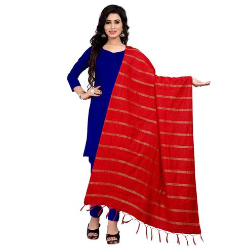 Flaunt Red Colored Festive Wear Cotton Dupatta