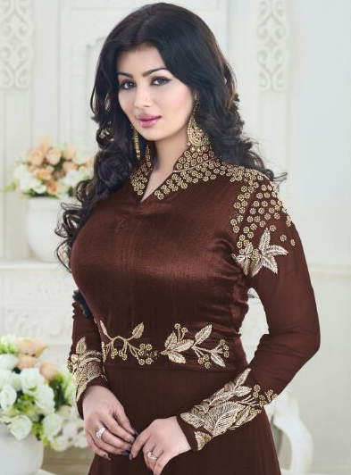 Brown Party Wear Anarkali Suit