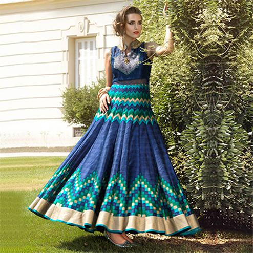 Blue Party Wear Designer Gown Anarkali