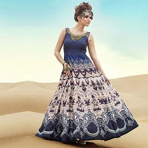 Multicoloured Party Wear Gown Style Anarkali