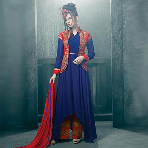 Navy Blue Party Wear Salwar Suit