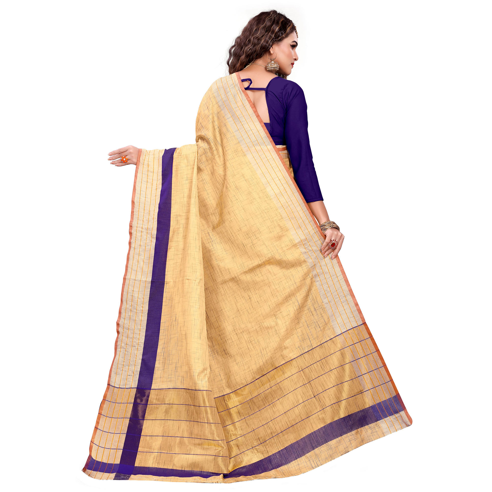Entrancing Beige Colored Casual Printed Art Silk Saree