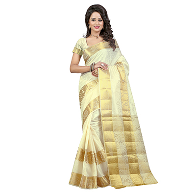 Off White Traditional Saree