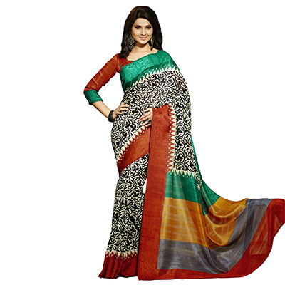Multicolor Casual Wear Printed Saree