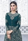 Teal Green Party Wear Anarkali Suit