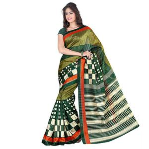 Green Casual Wear Art Silk Saree
