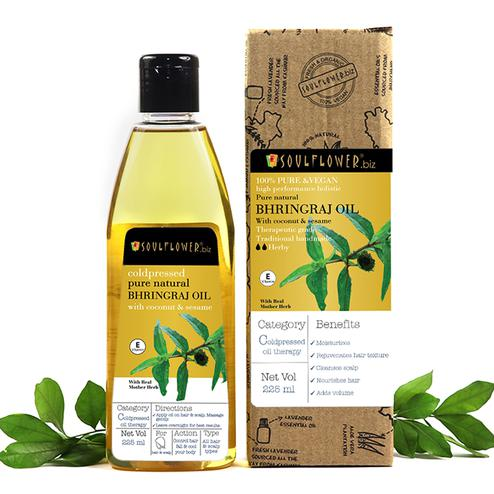 Soulflower Coldpressed Bhringraj Hair Oil 225ml