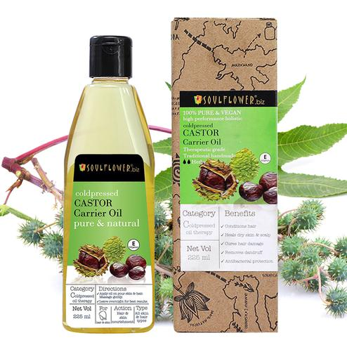 Soulflower Coldpressed Castor Oil For Hair & Skin 225ml