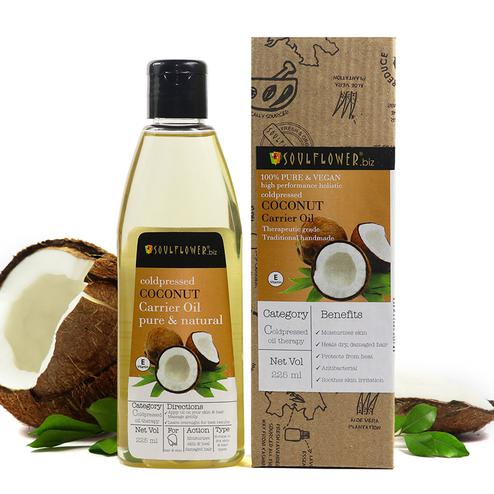 Soulflower Coldpressed Coconut Carrier Oil 225ml
