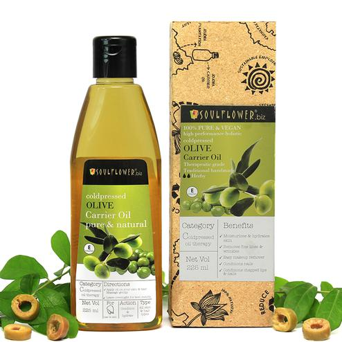 Soulflower Coldpressed Olive Oil For Hair & Skin 225ml