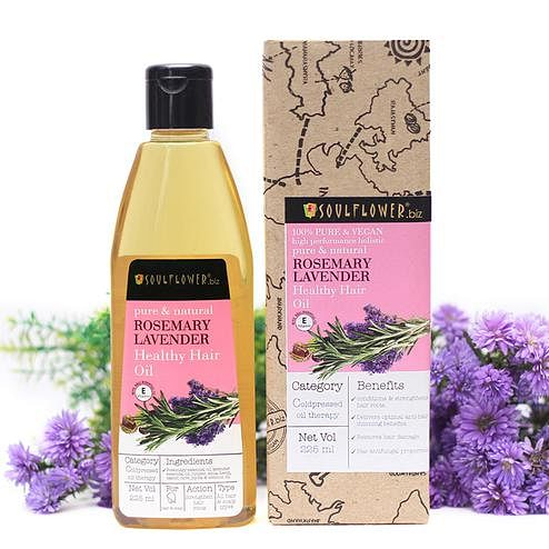 Soulflower Rosemary Lavender Healthy Hair Oil 225ml