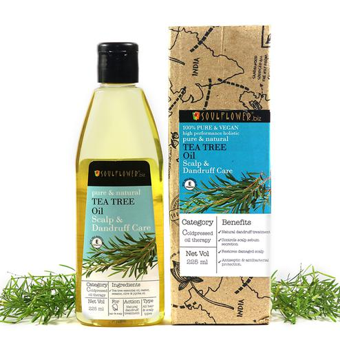 Soulflower Tea Tree Anti Dandruff Hair Oil 225ml