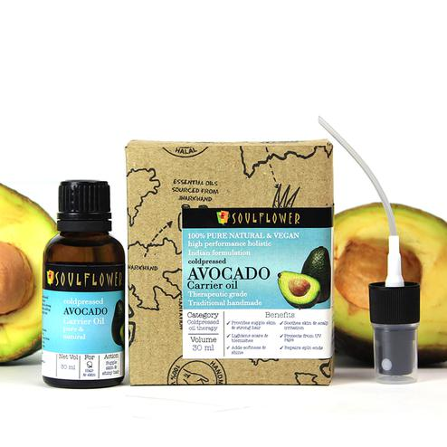 Soulflower Coldpressed Avocado Carrier Oil 30ml