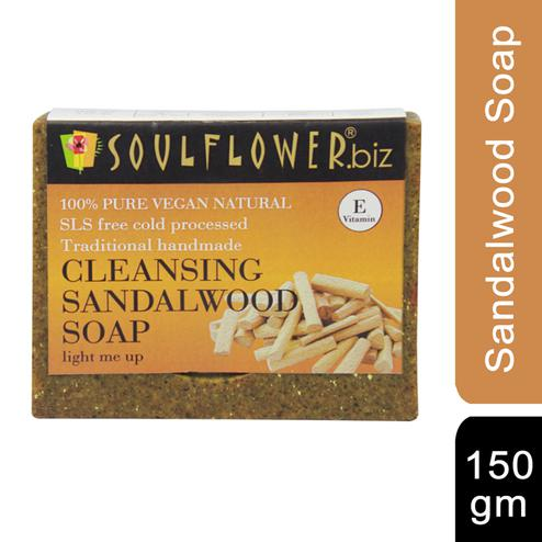 Soulflower Cleansing Sandalwood Soap 150gm