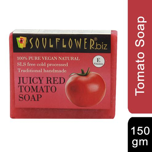 Soulflower Juciy Red Tomato Soap 150gm