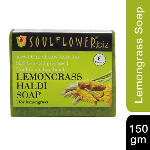 Soulflower Lemongrass Haldi Soap 150gm