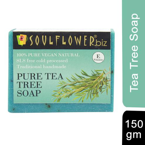Soulflower Pure Tea Tree Soap 150gm