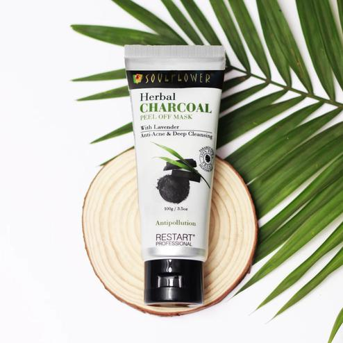 Soulflower Herbal Charcoal Peel Off Face Pack 100gm
