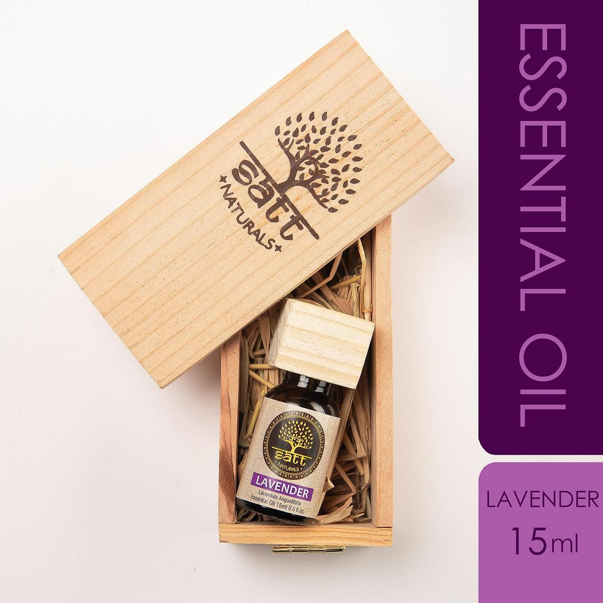 Satt Naturals Pure And Natural Lavender Essential Oil For Hair-Skin-Face And Relaxing 15ml