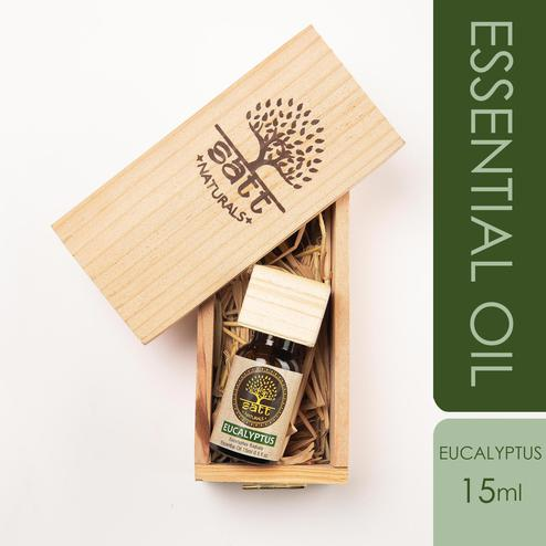 Satt Naturals Pure And Natural Eucalyptus Essential Oil For Cold - Cough - Head Ache Skin Care 15ml
