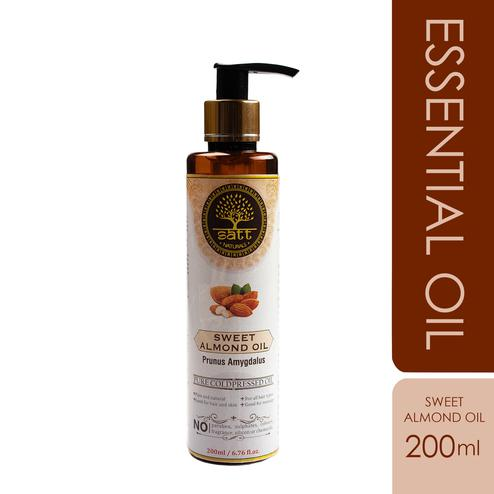 Satt Naturals Pure Sweet Almond Essential Oil For Hair-Skin Care-Body Masssage Aroma Threapy 200ml