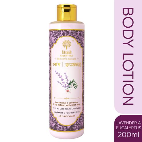 Khadi Essentials SWAANG Eucalyptus-Lavender Body Lotion with Almond-Shea for Normal to Oily Skin