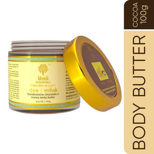 Khadi Essentials MOHAK Theobromine Chocolate Body Butter with Cocoa Butter-Turmeric-Honey