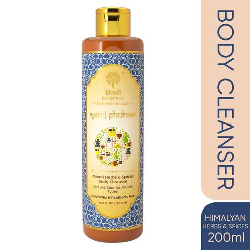 Khadi Essentials PHUHAAR Himalayan Herbs-Spices Body Wash with Sea Buckthorn for Therapeutic Bath