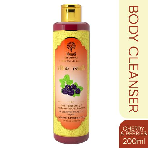 Khadi Essentials RASIK Blueberry-Mulberry Body Cleanser with Kiwi-Cherry for Enlivening Bath
