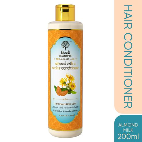 Khadi Essentials Almond Milk-Arnica Anti Dandruff Conditioner with Shea Butter-Amla-Brahmi