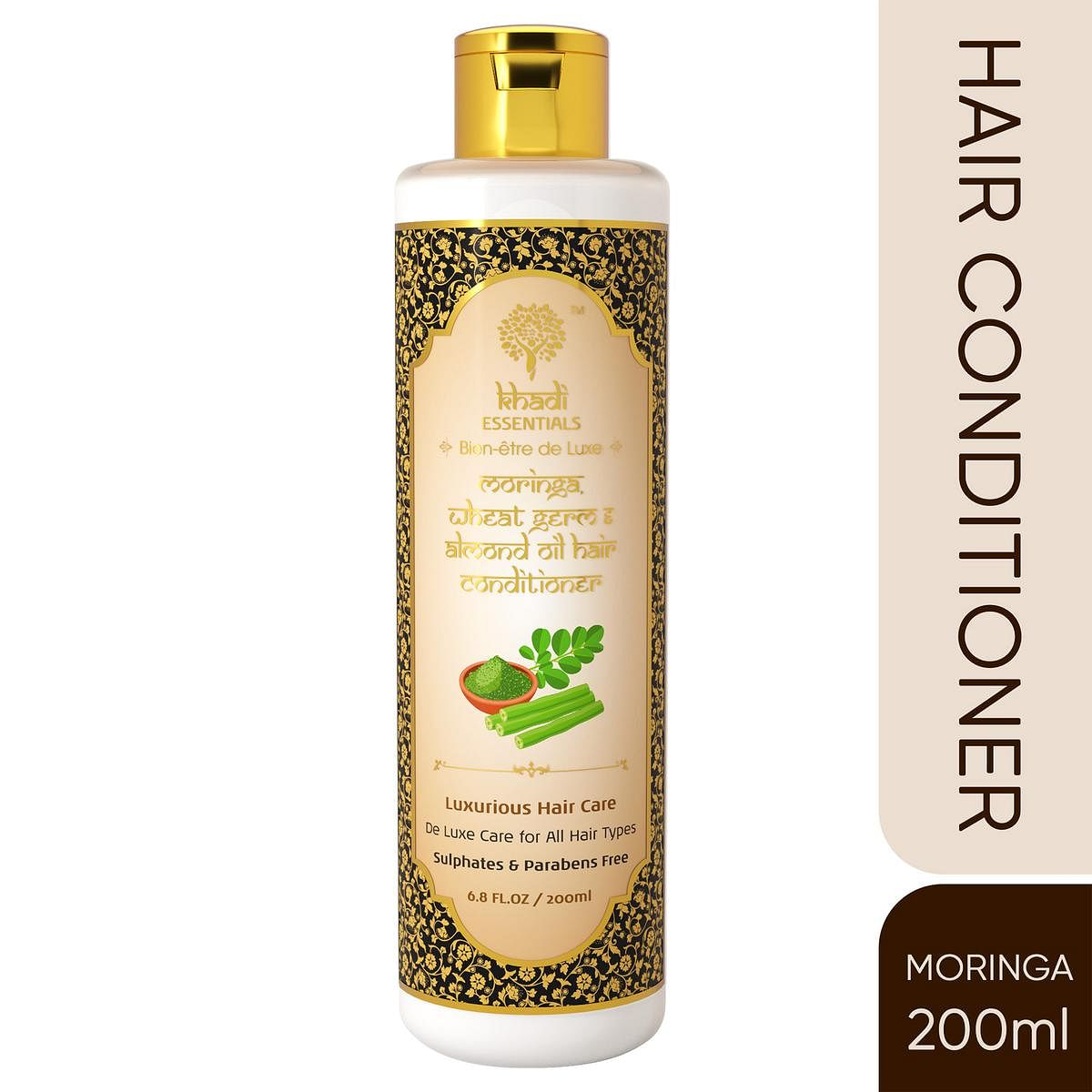 Khadi Essentials Moringa-Wheat Germ Conditioner with Almond Oil-Bay Leaf for Dry-Damaged Hair