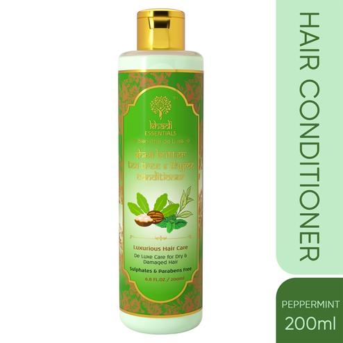 Khadi Essentials Shea Butter-Tea Tree-Thyme Conditioner with Neem-Jojoba for Dry-Frizzy Hair