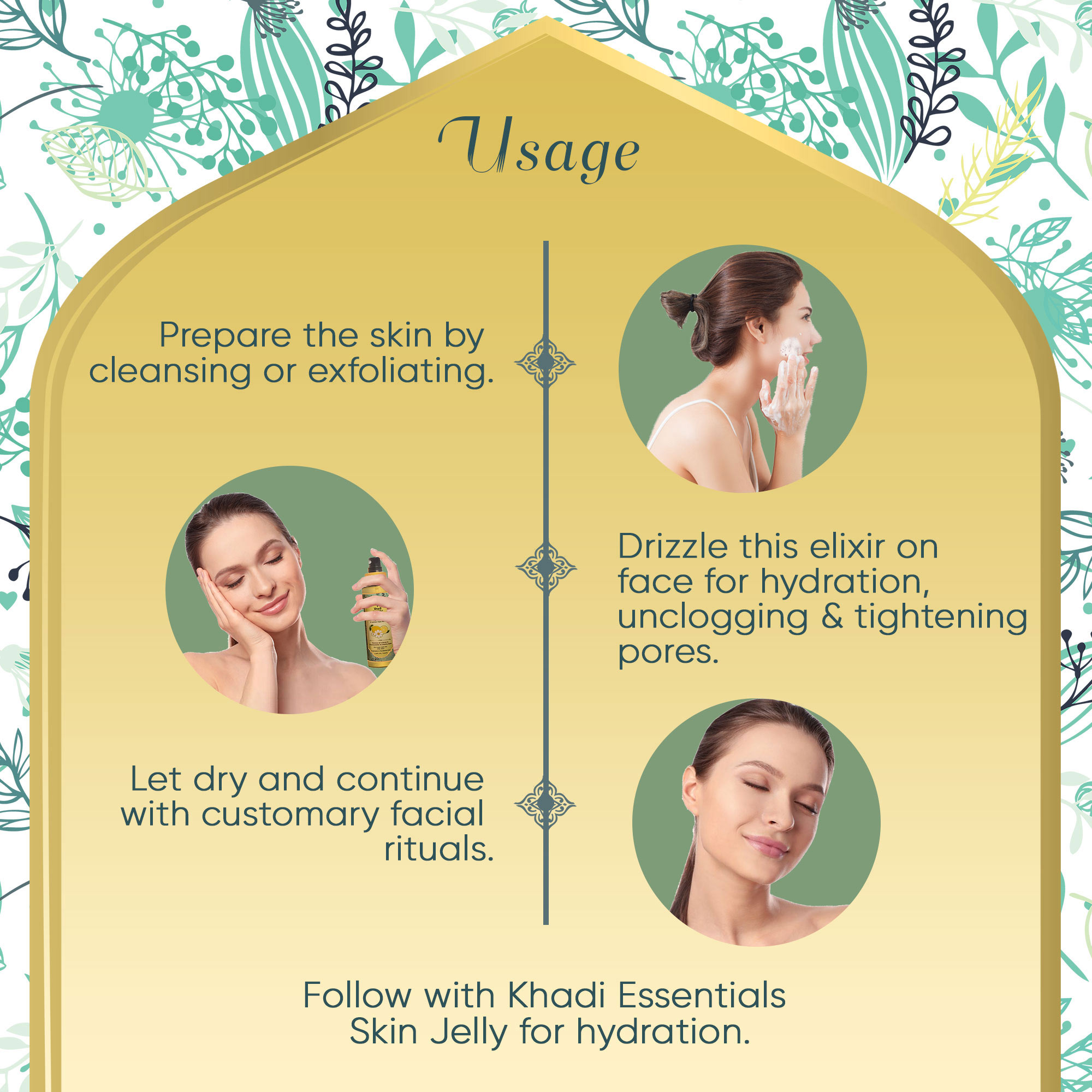 Khadi Essentials Enlivening Pure Roman Chamomile-Lemon Oil Face Mist for Normal to Oily Skin
