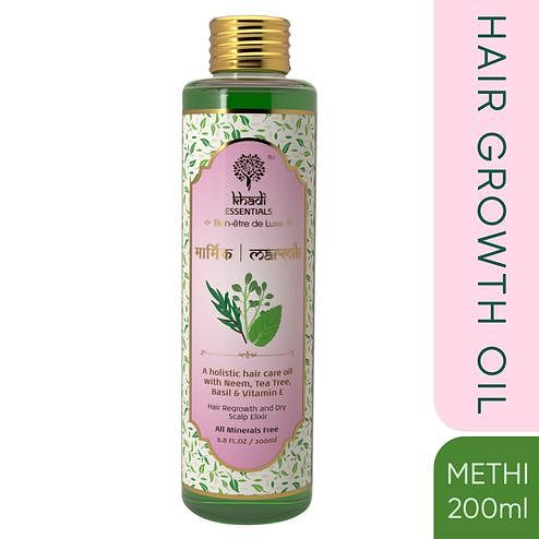 Khadi Essentials MARMIK Anti Hair Fall-Regrowth Oil with Neem-Tea Tree-Holy Basil-Vitamin E
