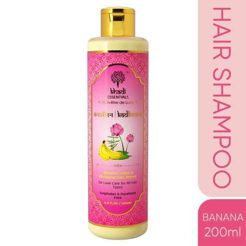 Khadi Essentials KADLIVANA Banana-Lotus-Bhringraj Ultra Nourishing Hair Shampoo with Kusuma Oil