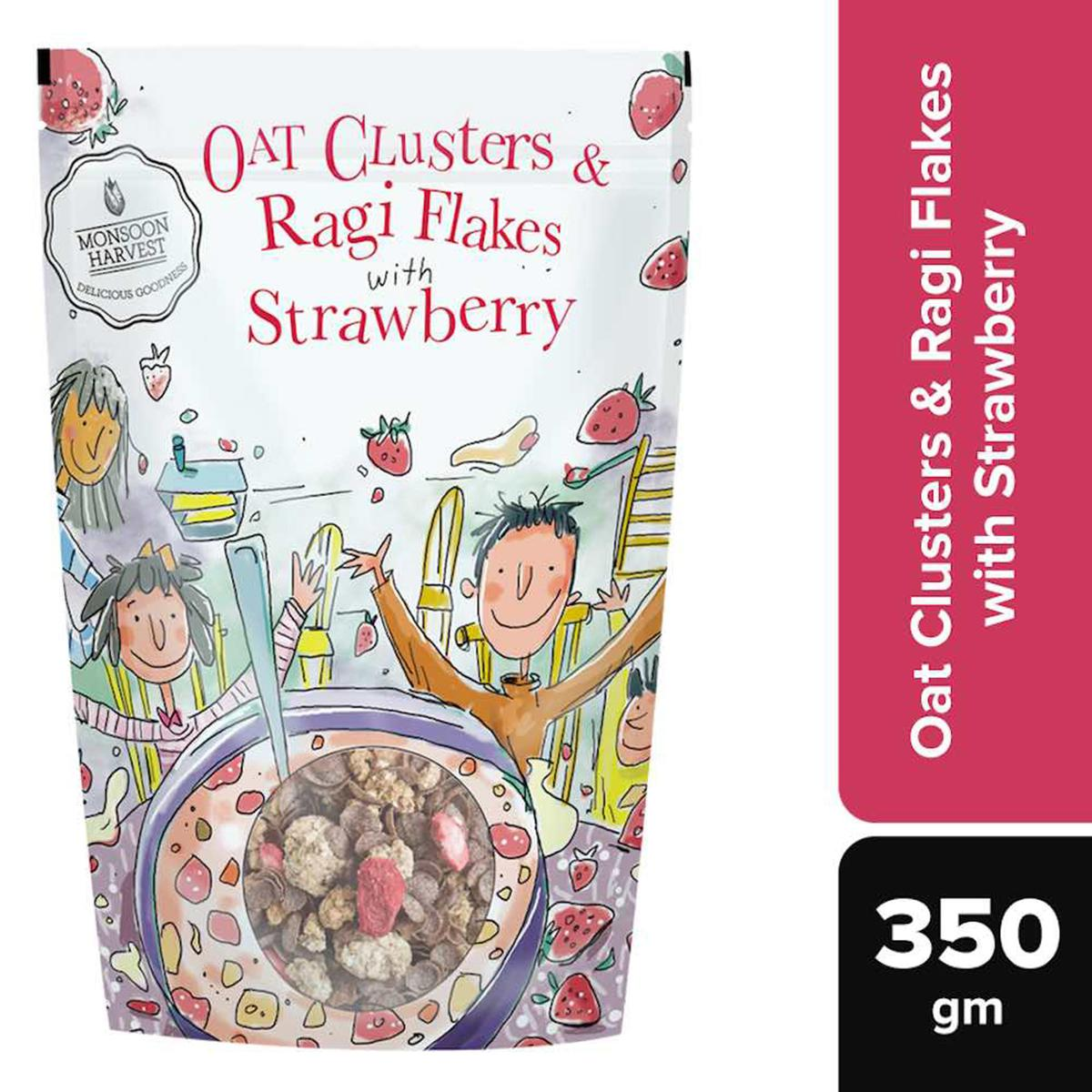 Monsoon Harvest Oat Clusters & Ragi Flakes with Strawberry 350gms