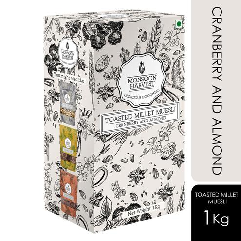 Monsoon Harvest Toasted Millet Muesli Cranberry and Almond 1000gms