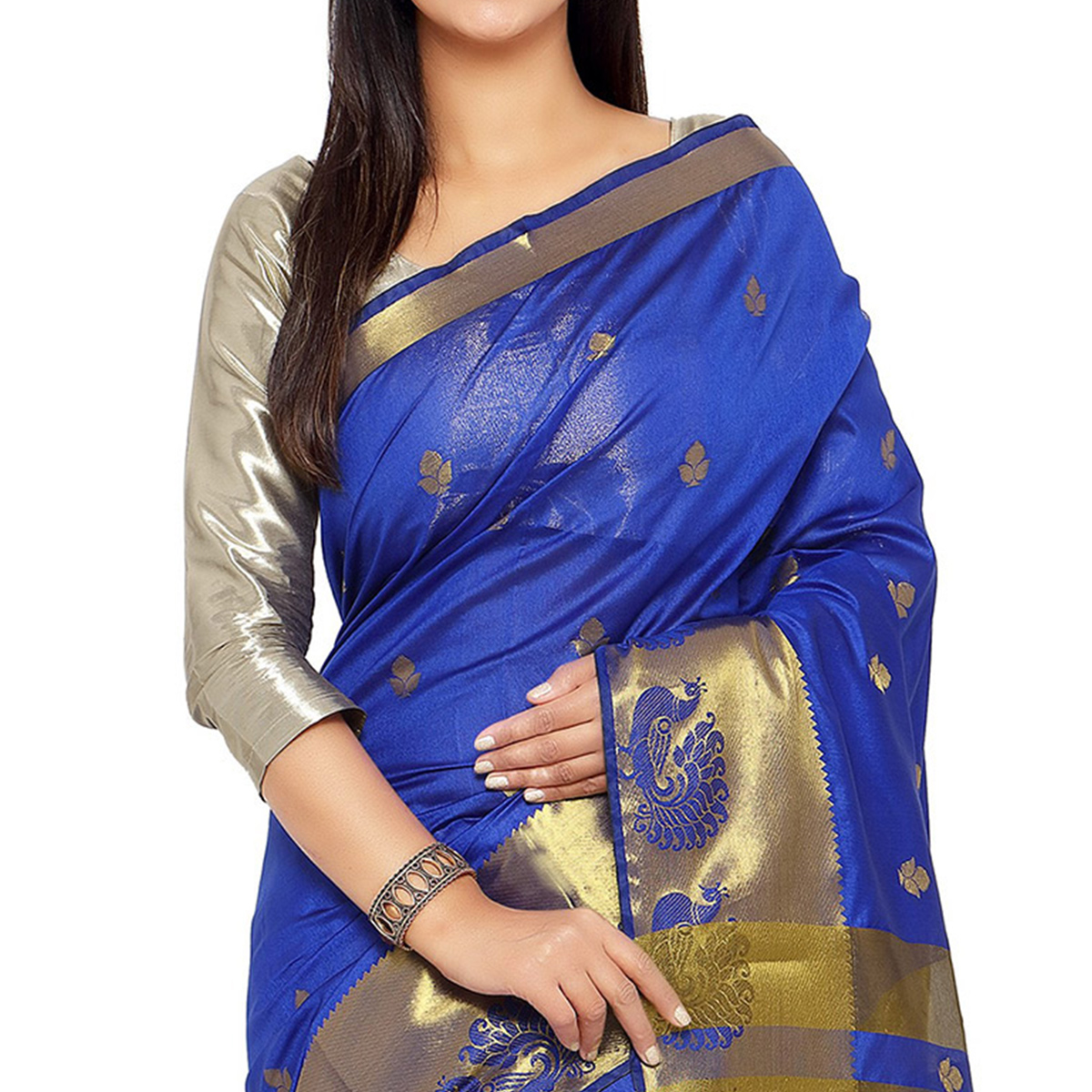 Royal Blue Art Silk Zari Weaved Saree