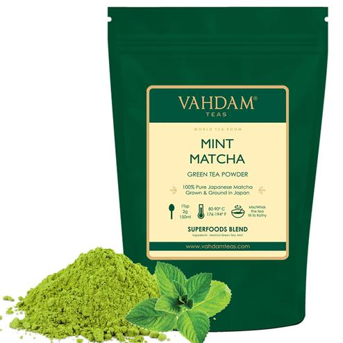 VAHDAM Mint Matcha Green Tea 50gms