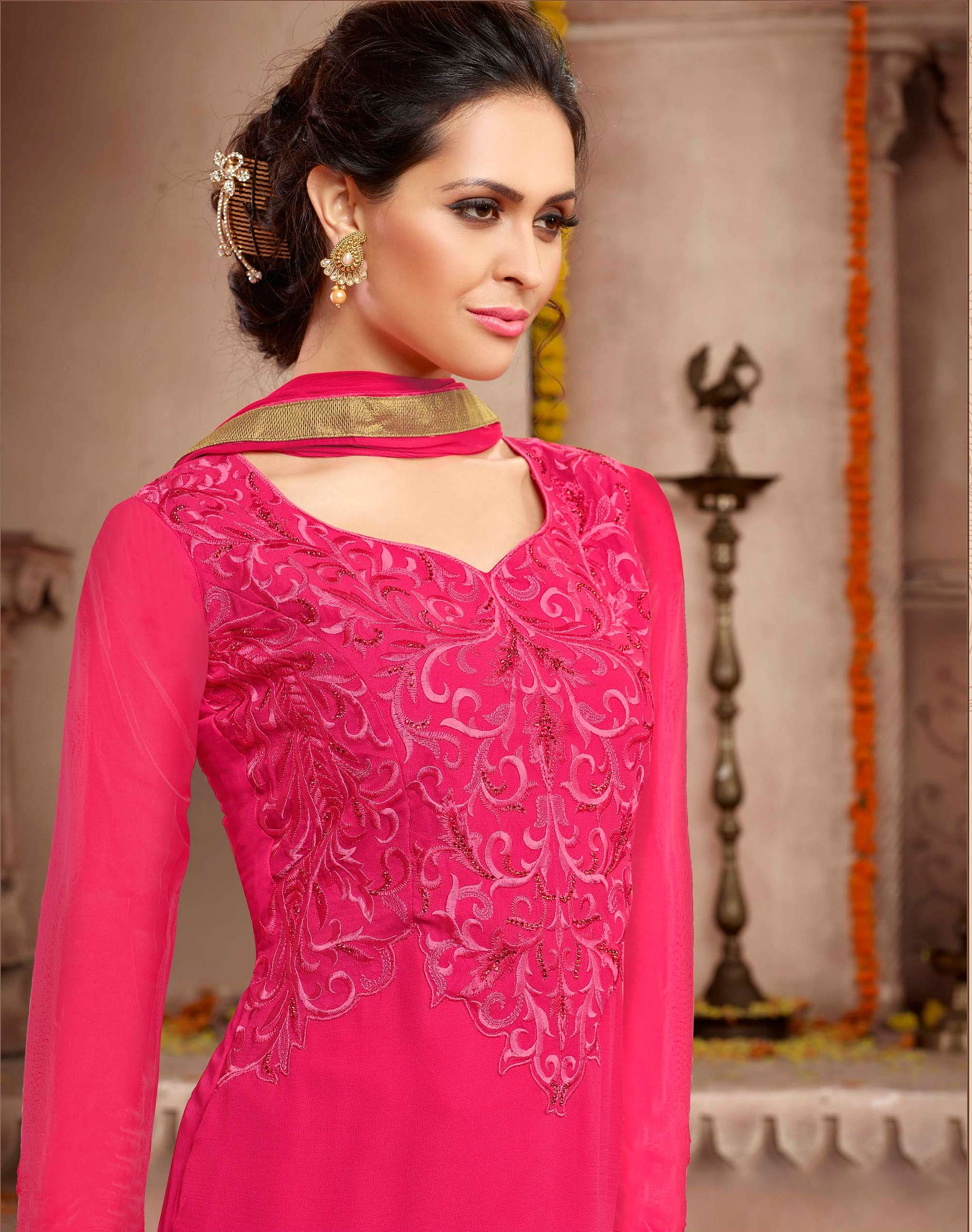 3ee405e1f692 Buy Pink - Grey Jacket Style Designer Suit for womens online India ...