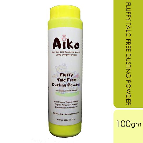 Amayra Natural's Organic Aiko Fluffy Talc Free Dusting Powder-100gm
