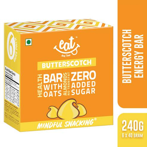EAT Anytime Butterscotch Energy-Nutrition Bars 240gms(Pack of 6)