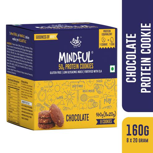 EAT Anytime Gluten Free Chocolate Protein Cookies-Pack of 8 (160g)